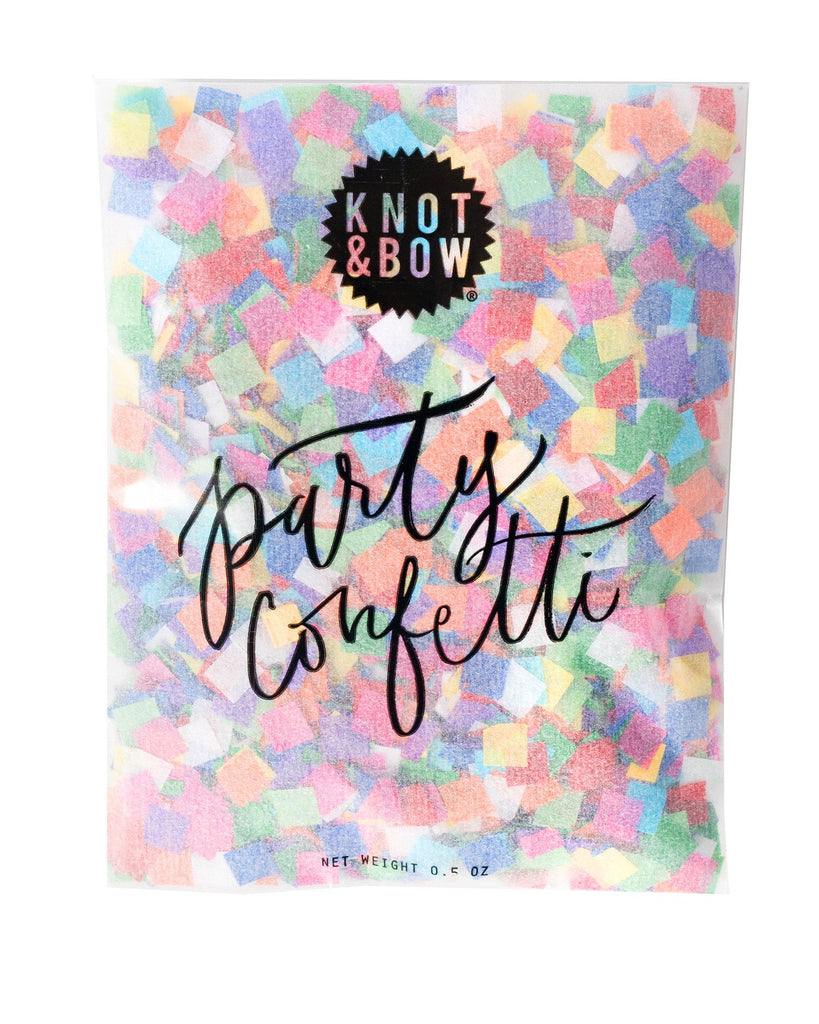 4 oz bag of Knot & Bow rainbow party confetti