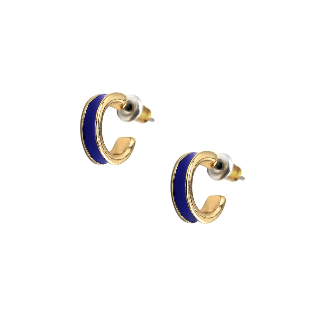 Small Enamel Channel Hoop Earrings, Earrings, Tuleste, Tuleste