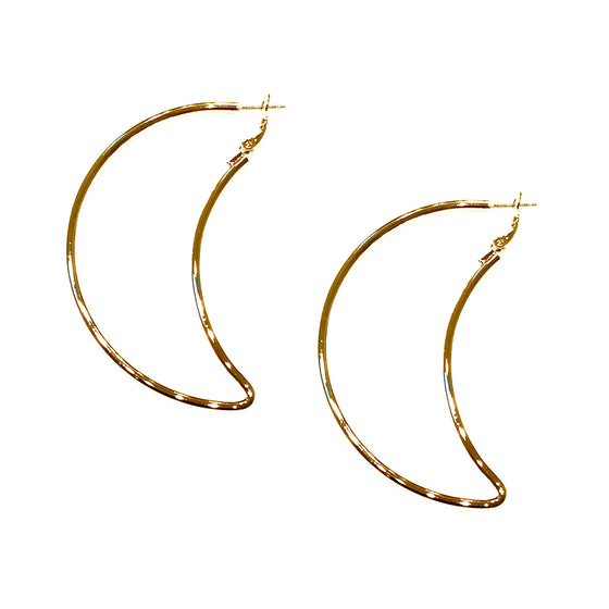 Large Moon Earrings, earring, Tuleste, Tuleste