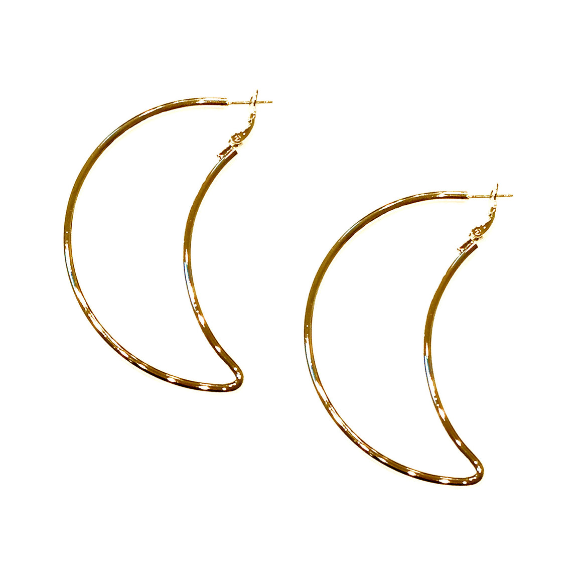 Large Moon Earrings
