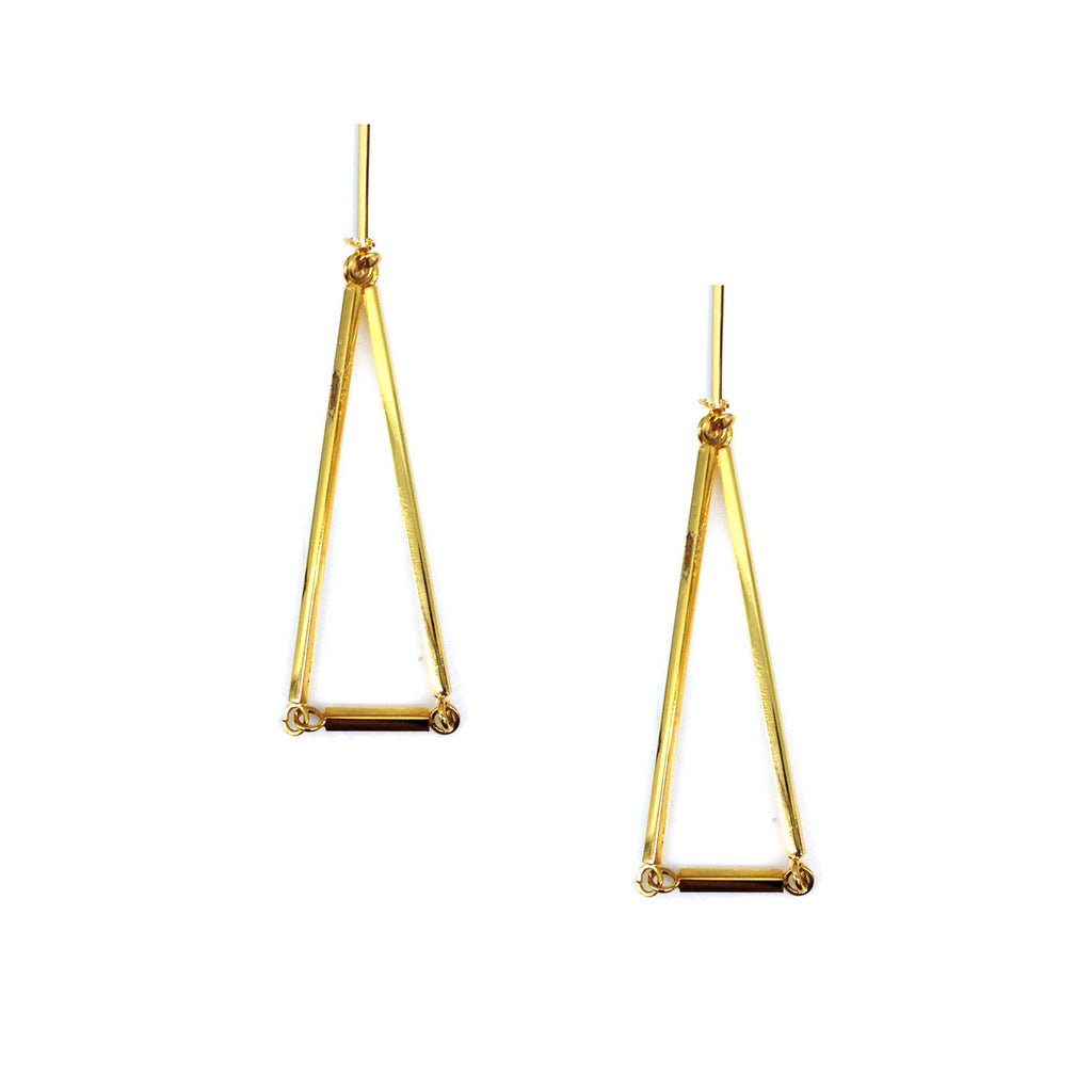 Small Triangle Bar Earring