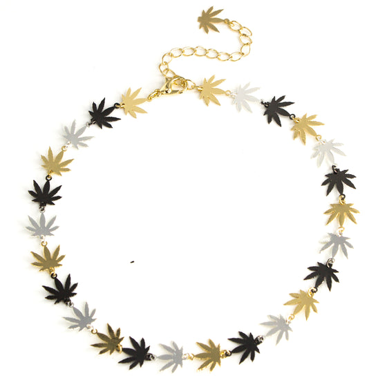 Green Leaf Choker, necklace, Tuleste, Tuleste