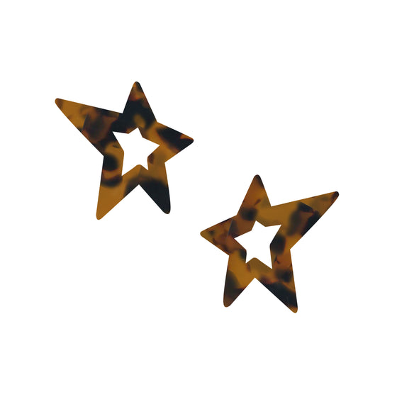 Small Resin Star Earrings, Earrings, Tuleste, Tuleste