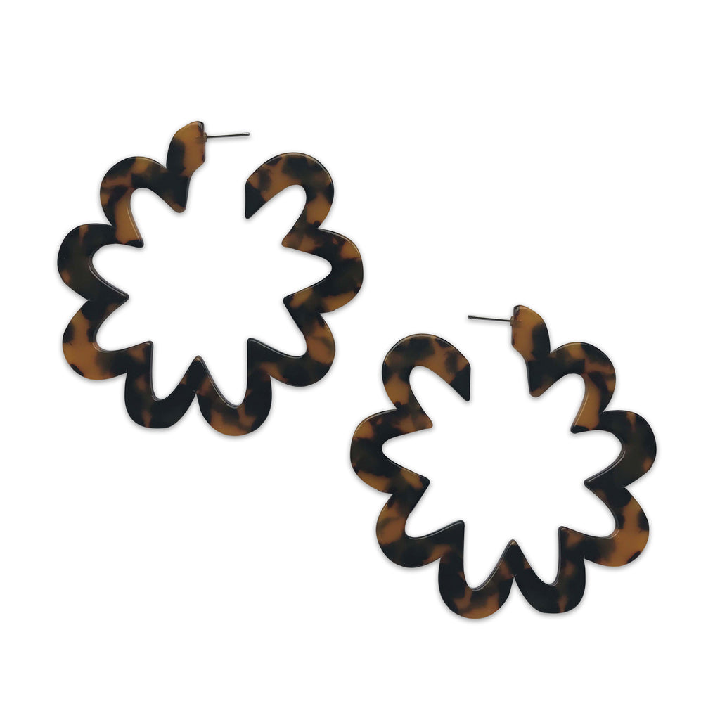 Resin Flower Earrings, Earrings, Tuleste, Tuleste