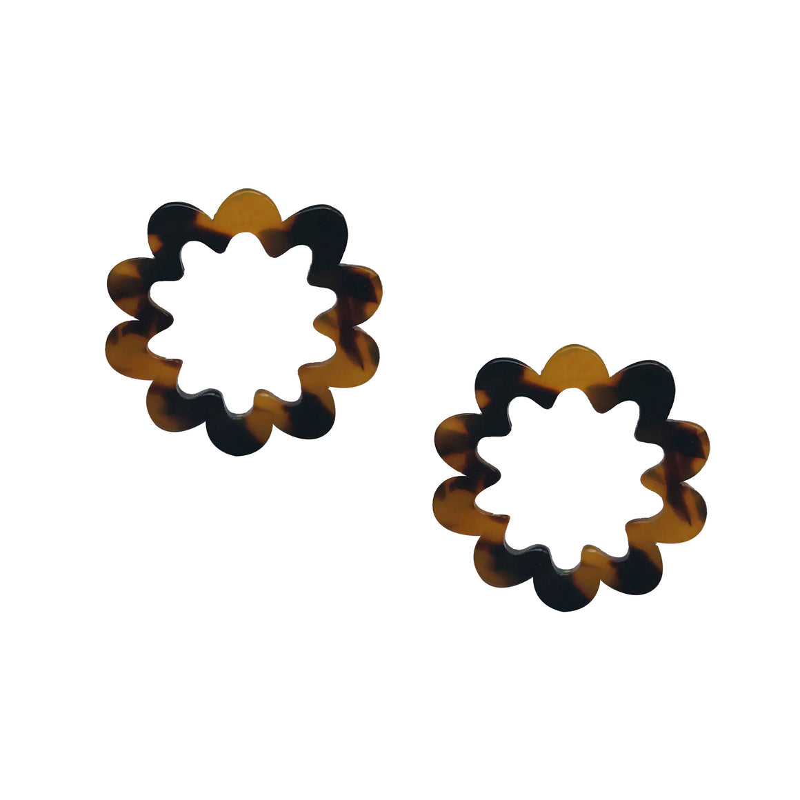 Small Resin Flower Earrings