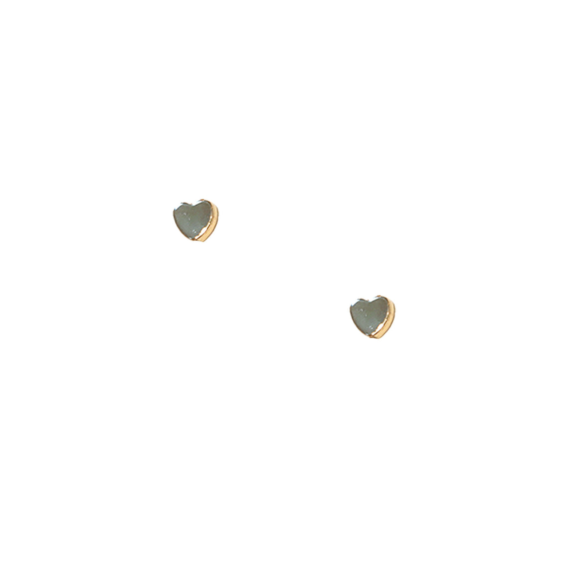 Mini Heart Stud Earrings, earring, Tuleste, Tuleste