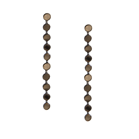 Mirror Long Drop Earrings, Earrings, Tuleste, Tuleste