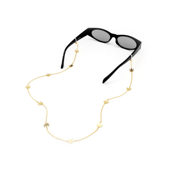 Delicate Green Leaf Eyewear Chain, Glasses Chains, Tuleste, Tuleste