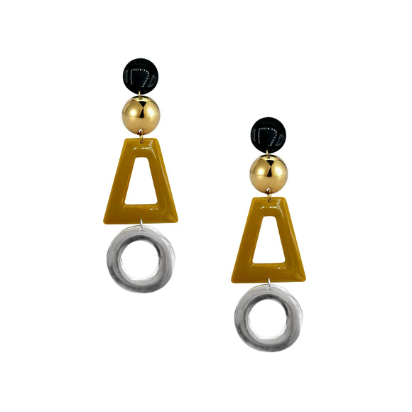 Cutout Shape Drop Earrings, Earrings, Tuleste, Tuleste
