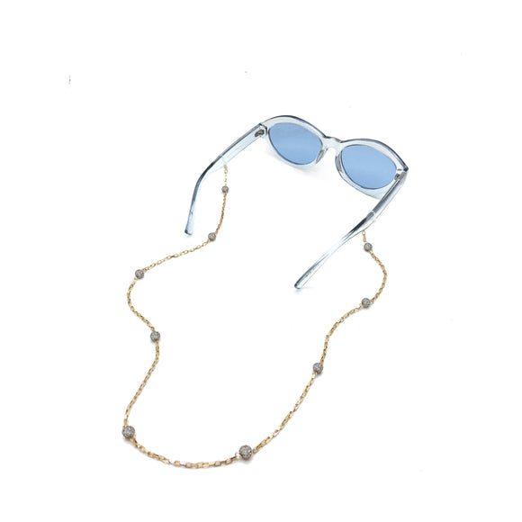 Delicate Crystal Ball Eyewear Chain, Glasses Chains, Tuleste, Tuleste