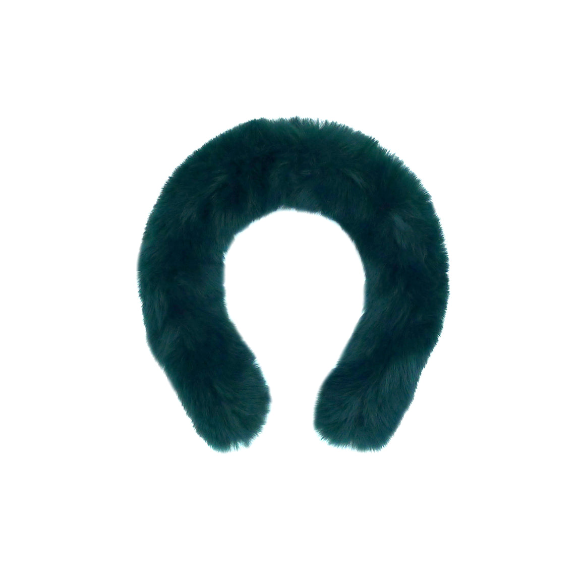 CELESTE | Green Faux Fur Headband, Hair, Tuleste, Tuleste