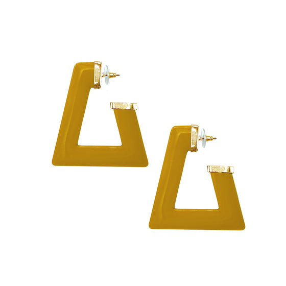 Trapezoid Hoops Earrings