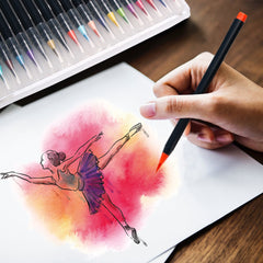 Watercolor Brush Pens Dancing Girl Artwork