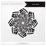 Allah Swirl Star islamic wall sticker