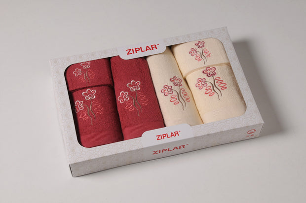 Bath Towels 6pcs Set ZIPLAR in Box Ref. F15-02