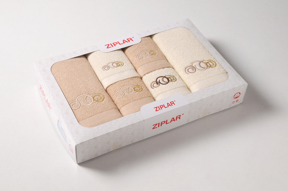 Bath Towels 6pcs Set ZIPLAR in Box Ref. Olimpico