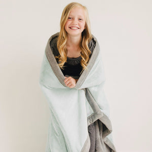 Mint Gray Lush Extra Large Blanket