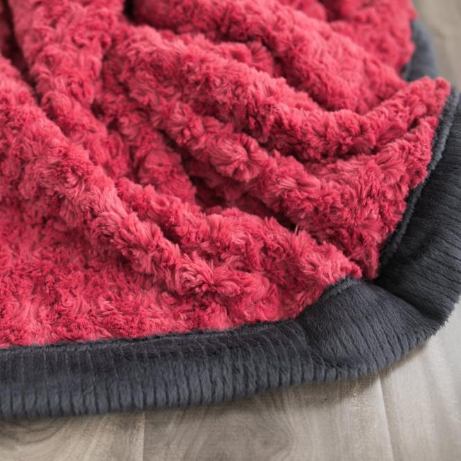 Desert Rose Swirl Charcoal Lush Mini Blanket