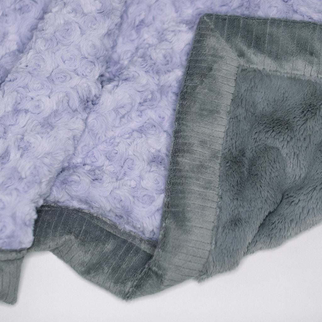 Lavender Swirl Gray Lush Toddler to Teen Blanket