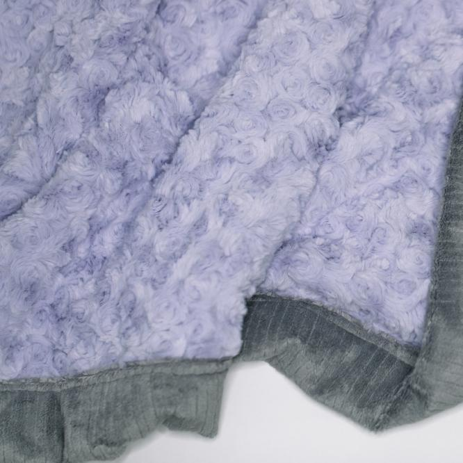 Lavender Swirl Gray Lush Receiving Blanket