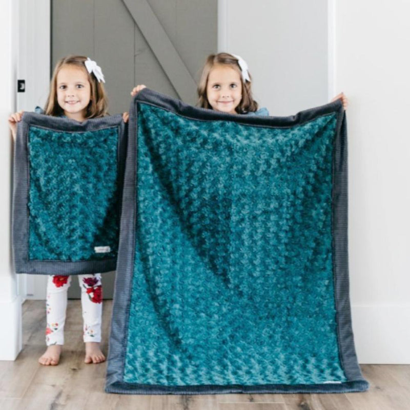 Emerald Swirl Charcoal Lush Toddler to Teen Blanket
