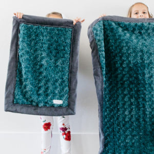 Emerald Swirl Charcoal Lush Mini Blanket