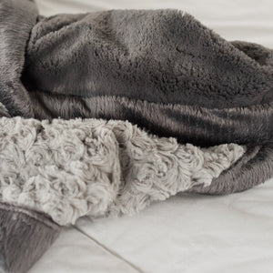 Gray Swirl Charcoal Lush Mini Blanket