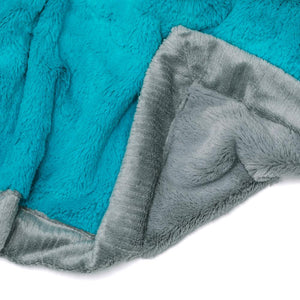 Caribbean Blue Gray Lush Mini Blanket