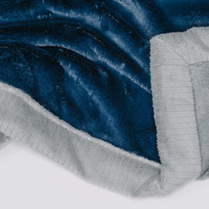 Navy Gray Lush Toddler to Teen Blanket