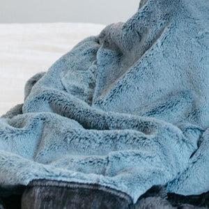 Slate Blue Charcoal Receiving Blanket