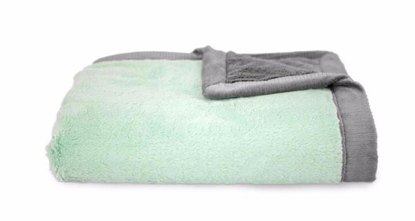Mint Gray Lush Blanket