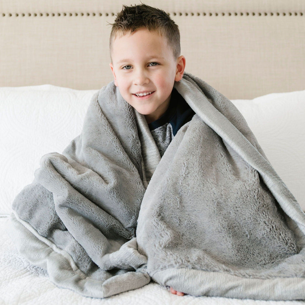 Gray Lush Toddler to Teen Blanket