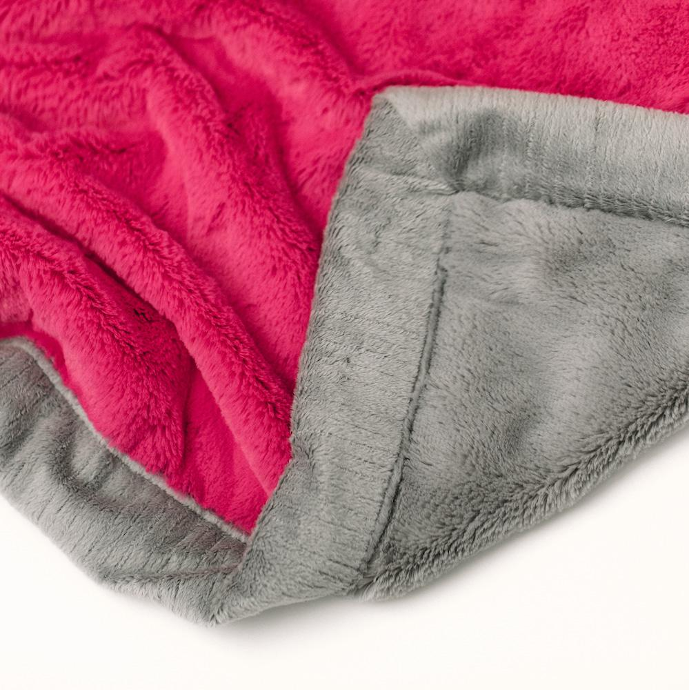 Lipstick Gray Lush Mini Blanket