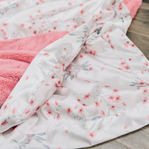 Sherbet Lush Sakura Bloom Satin Back Mini Blanket