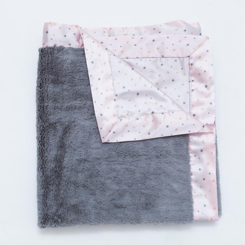 Blush Star Satin Back Toddler to Teen Blanket