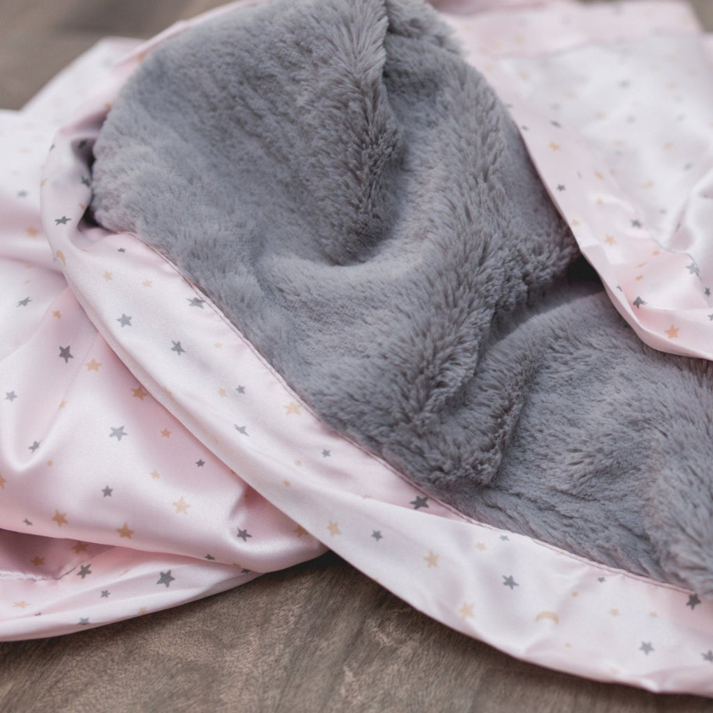 Blush Star Satin Back Mini Blanket