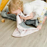Gray Lush Blush Star Satin Back Blanket