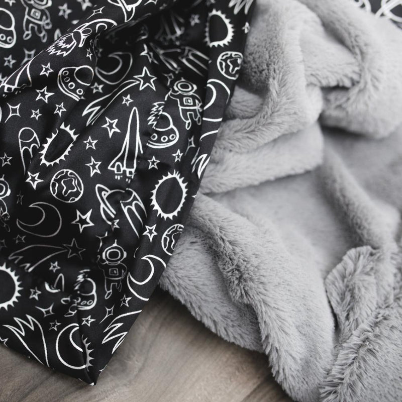 Gray Lush Launch Day Satin Back Toddler to Teen Blanket