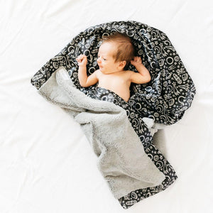 Gray Lush Launch Day Satin Back Mini Blanket
