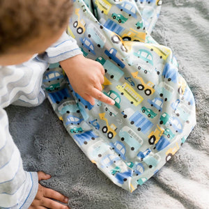 Dove Lush Hustle Bustle Satin Back Toddler to Teen Blanket