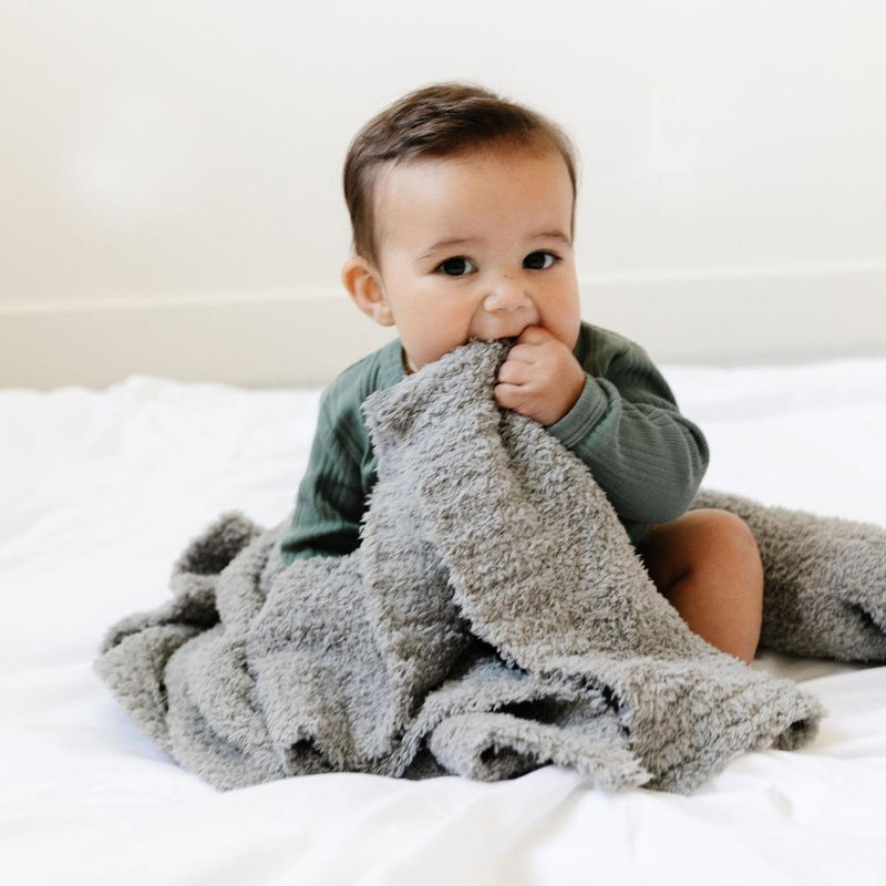 Gray Bamboni Receiving Blanket