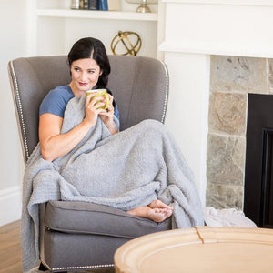 Gray Bamboni Throw Blanket