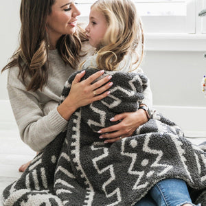 Mudcloth Double-Layer Bamboni Throw Blanket