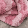 Pink Scallop Double-Layer Bamboni Mini Blanket