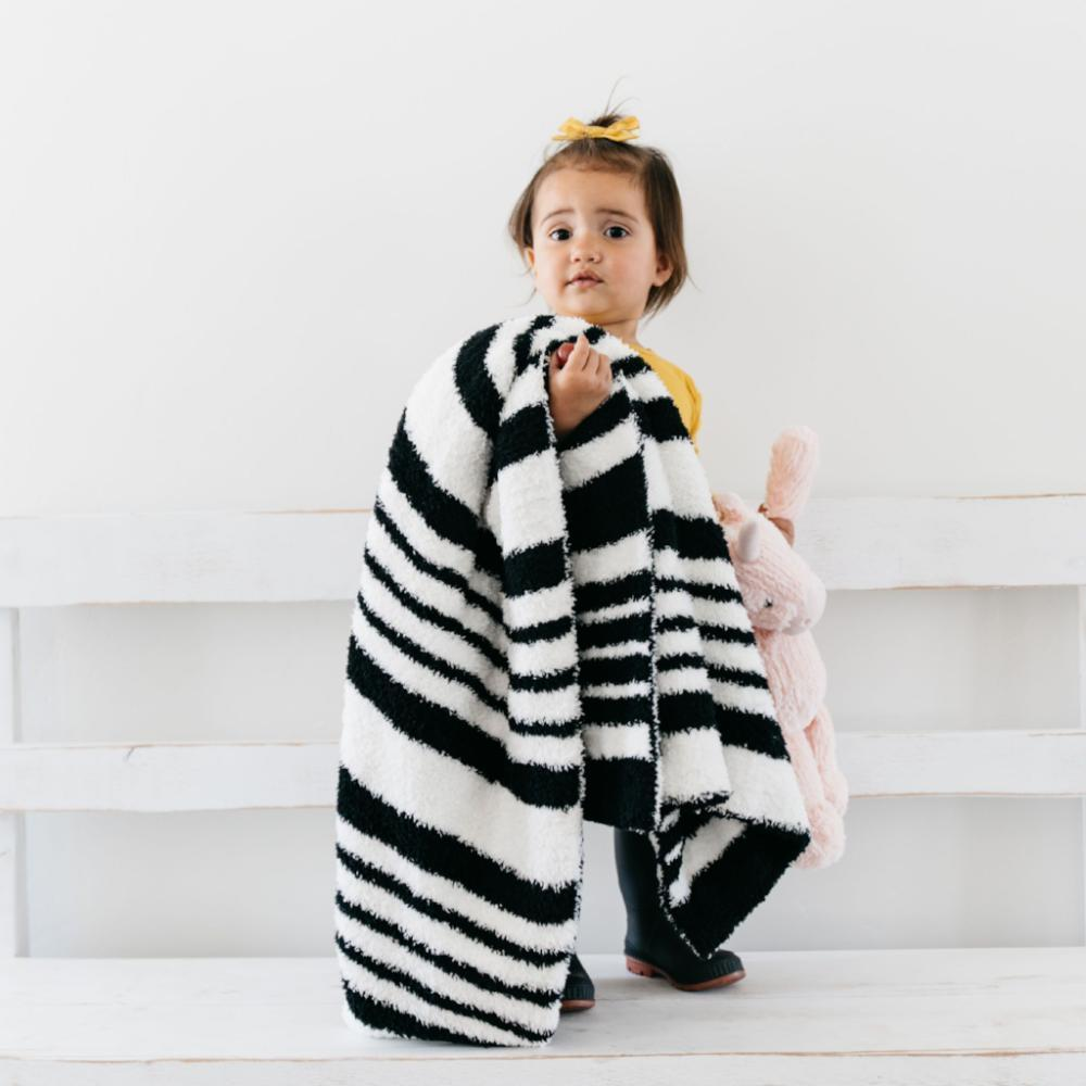 Black & White Double-Layer Bamboni Blanket
