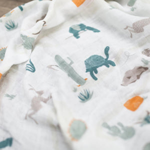 Slow & Steady Bamboo Rayon Muslin Swaddle