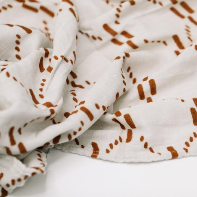 AJJ Juliet Copper Bamboo Rayon Muslin Swaddle