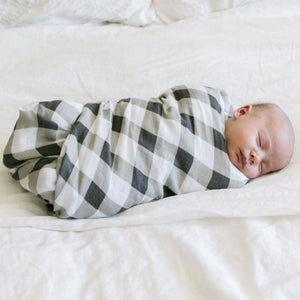 Buffalo Plaid Bamboo Rayon Muslin Swaddle