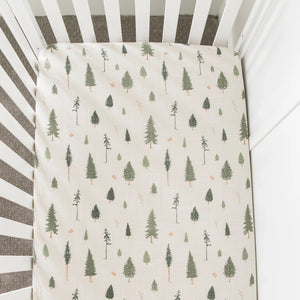 Pine Cotton Muslin Crib Sheet
