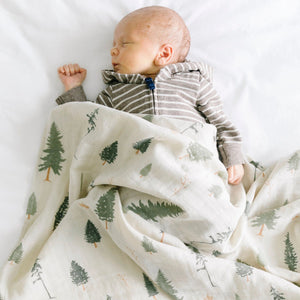 Pine Cotton Muslin 2-pack Swaddles